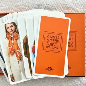 Hermes Knotting Cards for Styling Scarves